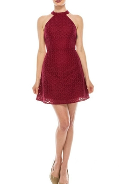 Shoptiques Product: Magenta Strappy Dress