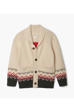 Shoptiques Product: Magestic Stag Shawl Collar Cardigan