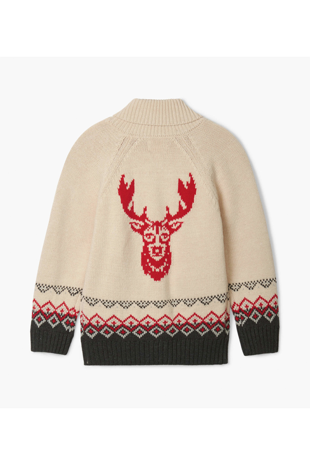 Hatley Magestic Stag Shawl Collar Cardigan - Front Full Image