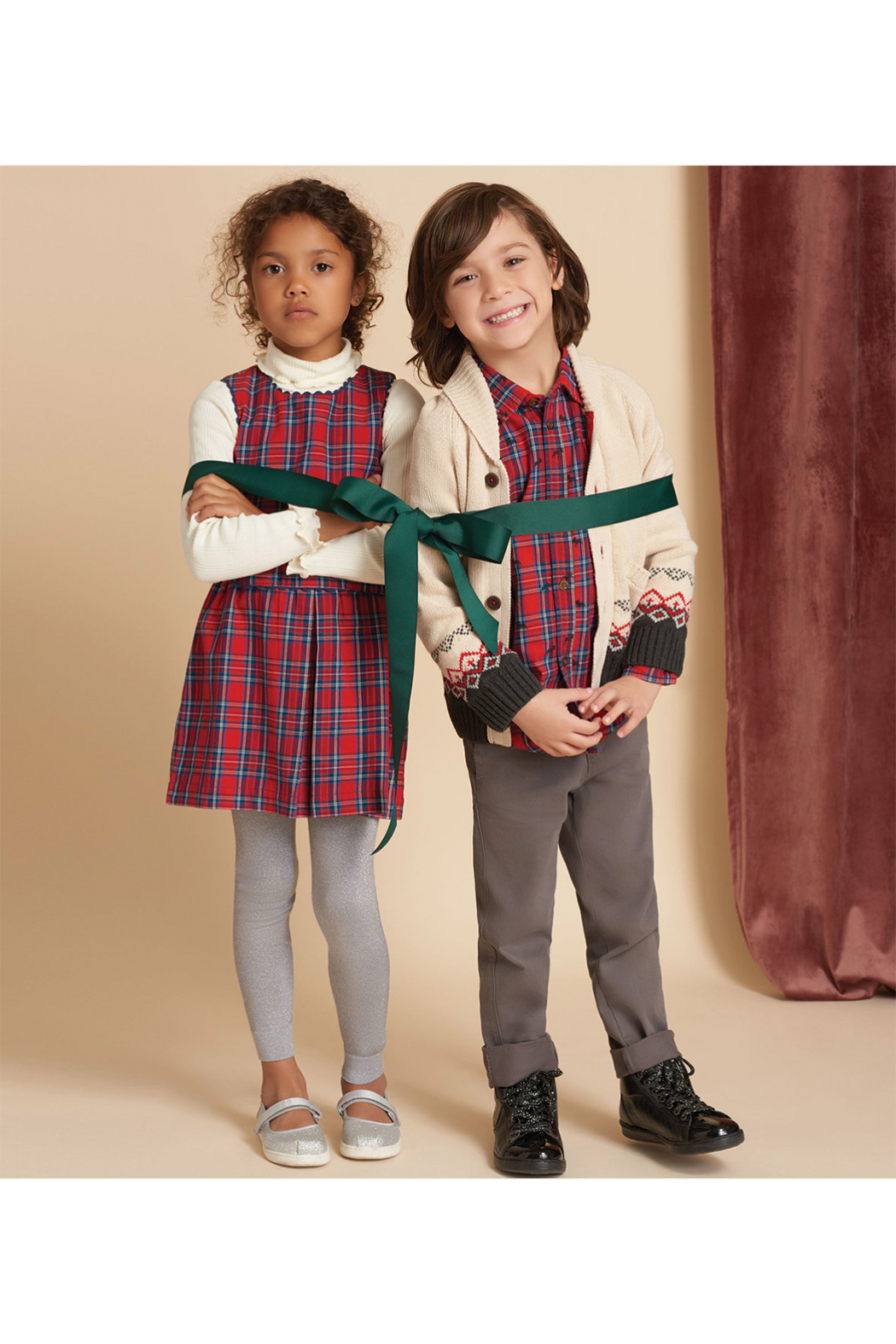 Hatley Magestic Stag Shawl Collar Cardigan - Side Cropped Image
