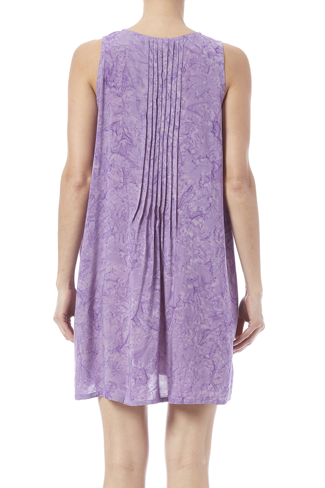 Maggie B Lavender Pintuck Tunic - Back Cropped Image