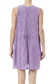 Maggie B Lavender Pintuck Tunic - Back cropped