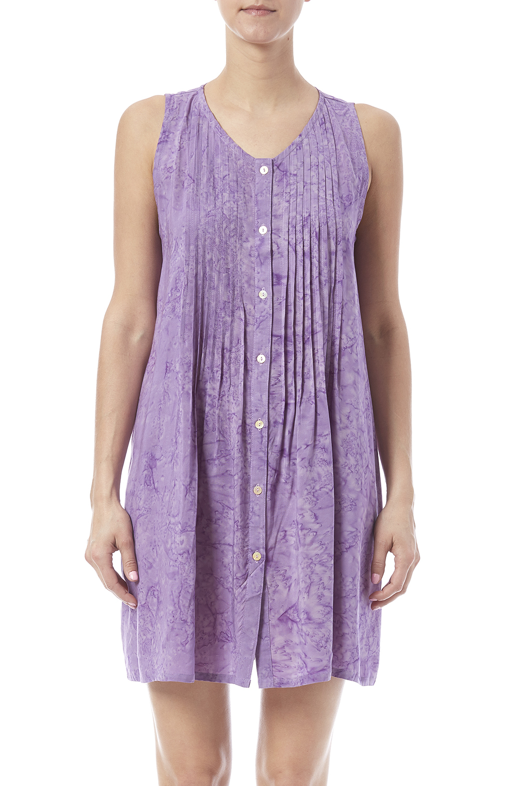 Maggie B Lavender Pintuck Tunic - Side Cropped Image