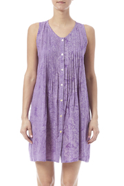Maggie B Lavender Pintuck Tunic - Side cropped