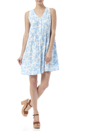 Maggie B Light Blue Pintuck Tunic - Front full body