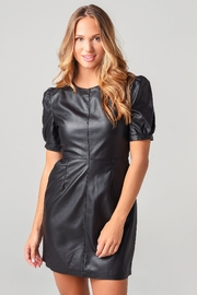 Cupcakes and Cashmere Maggie Leather Dress - Product Mini Image