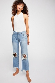 Free People Maggie Mid-Rise Straight - Front cropped