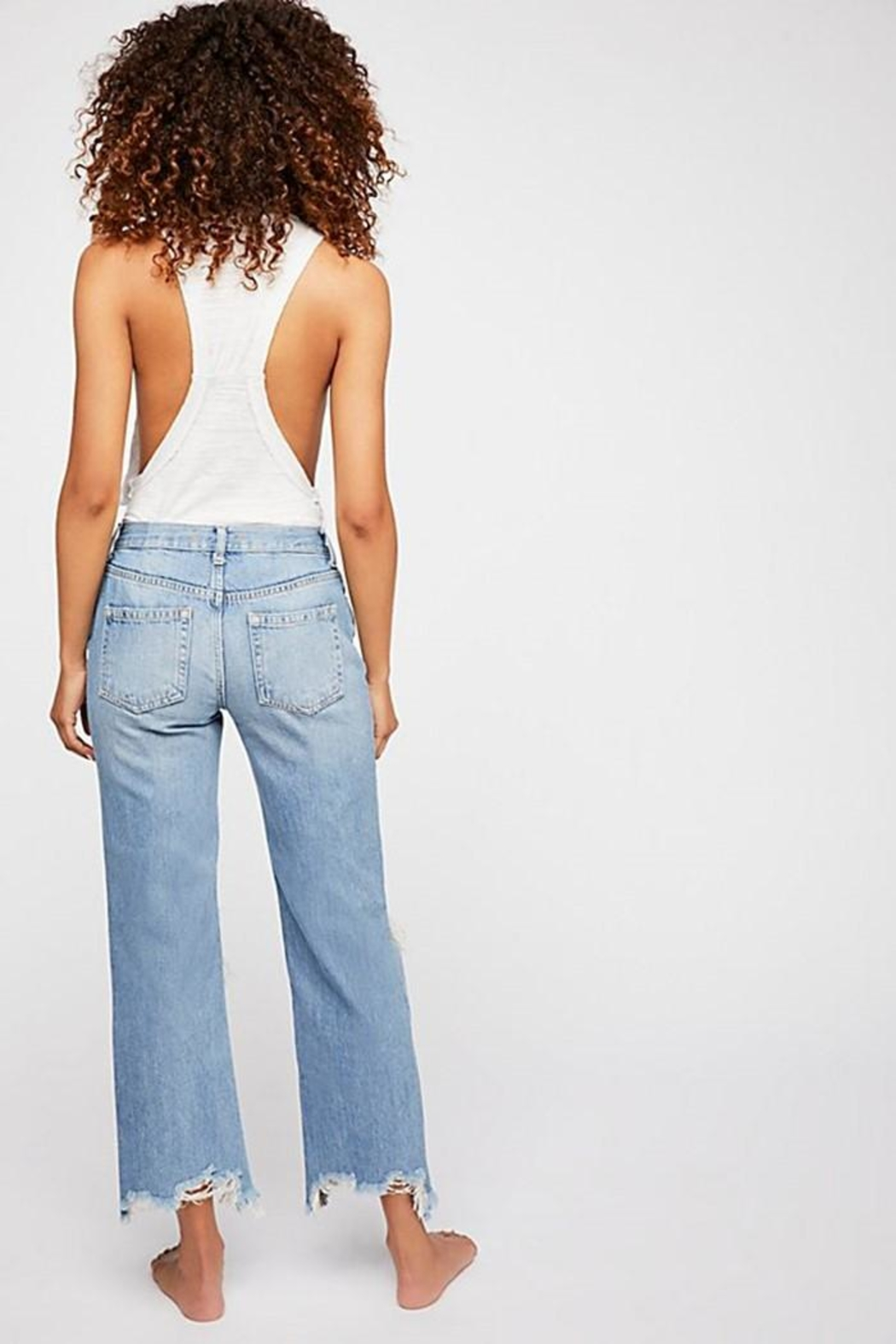 Free People Maggie Mid-Rise Straight - Front Full Image