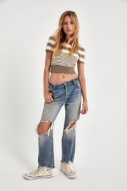 Free People Maggie Mid Rise Straight Leg Jean - Back cropped