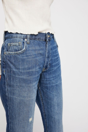 Free People Maggie Mid Rise Straight Leg Jean - Side cropped