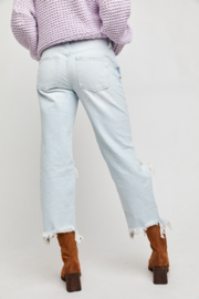 Free People  Maggie Mid-Rise Straight-Leg Jeans - Other