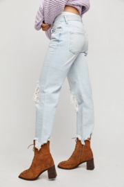 Free People  Maggie Mid-Rise Straight-Leg Jeans - Back cropped