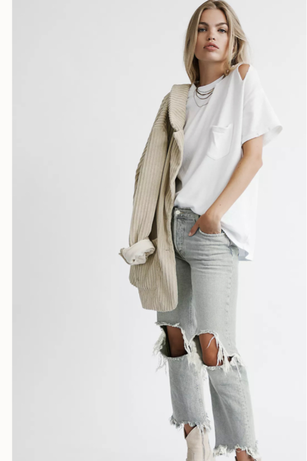Free People  Maggie Mid-Rise Straight-Leg Jeans - Main Image