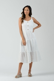 lucca couture Maggie Tiered Eyelet Button Front Dress - Product Mini Image