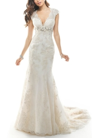 Maggie Sottero Lace White Wedding Dress - Front cropped