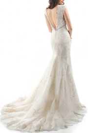 Maggie Sottero Lace White Wedding Dress - Front full body