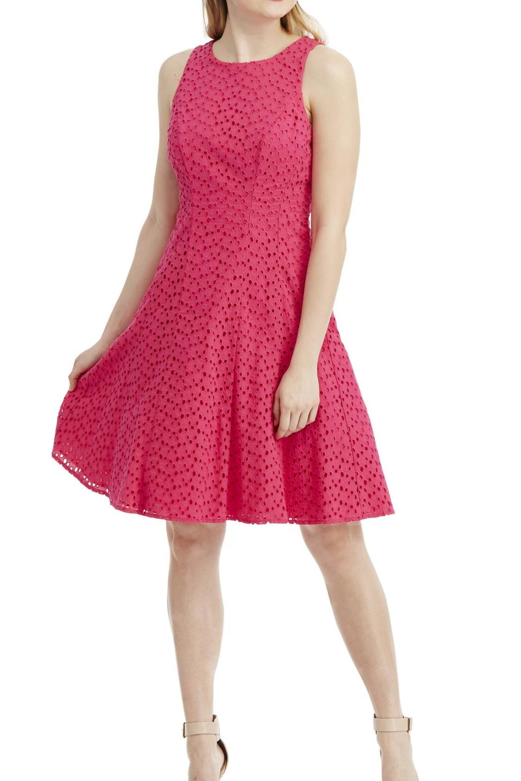 Maggy London Eyelet Dress - Side Cropped Image