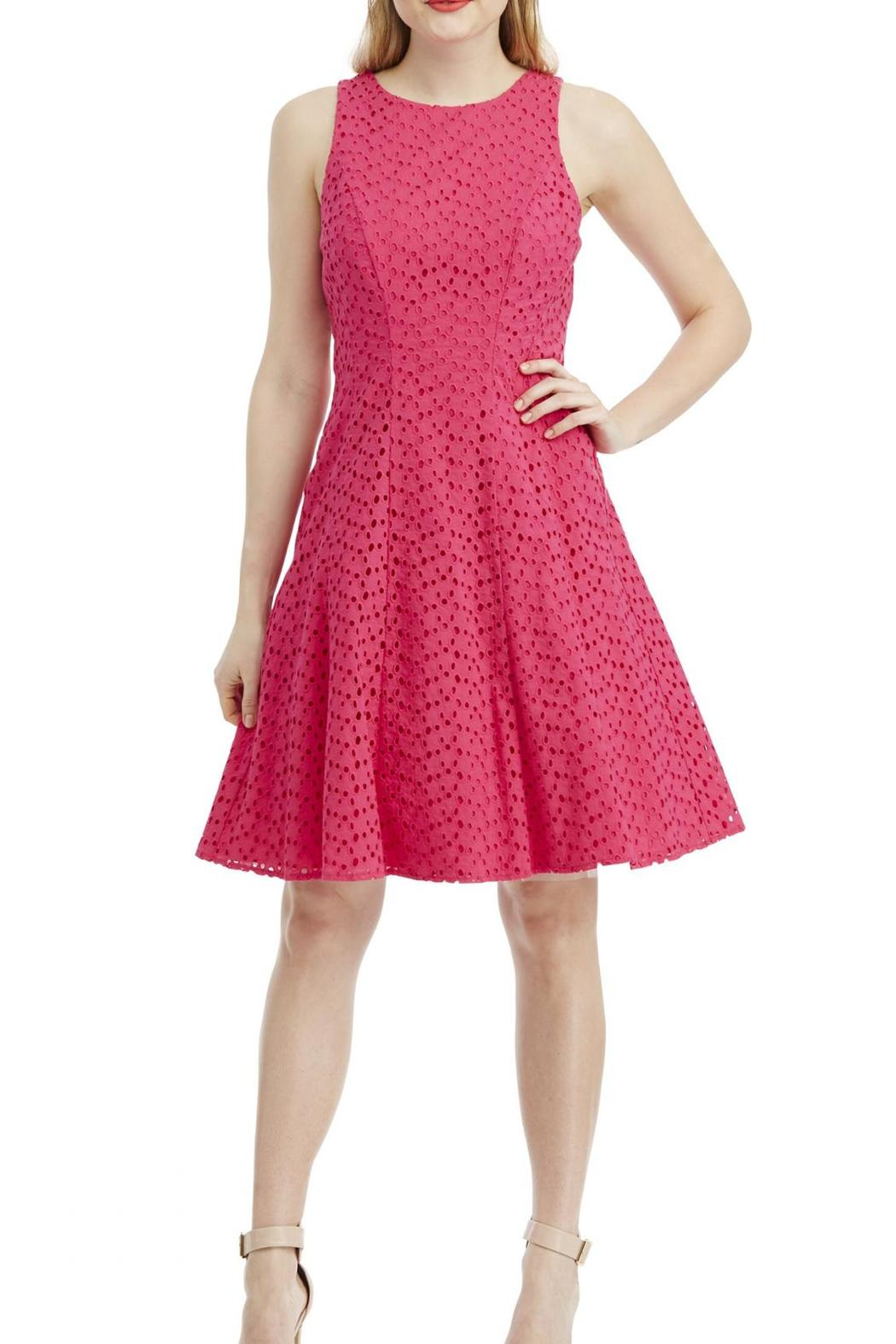 Maggy London Eyelet Dress - Front Cropped Image