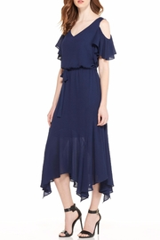 Maggy London Navy Cold Shoulder Dress - Side cropped