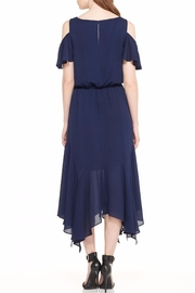 Maggy London Navy Cold Shoulder Dress - Front full body