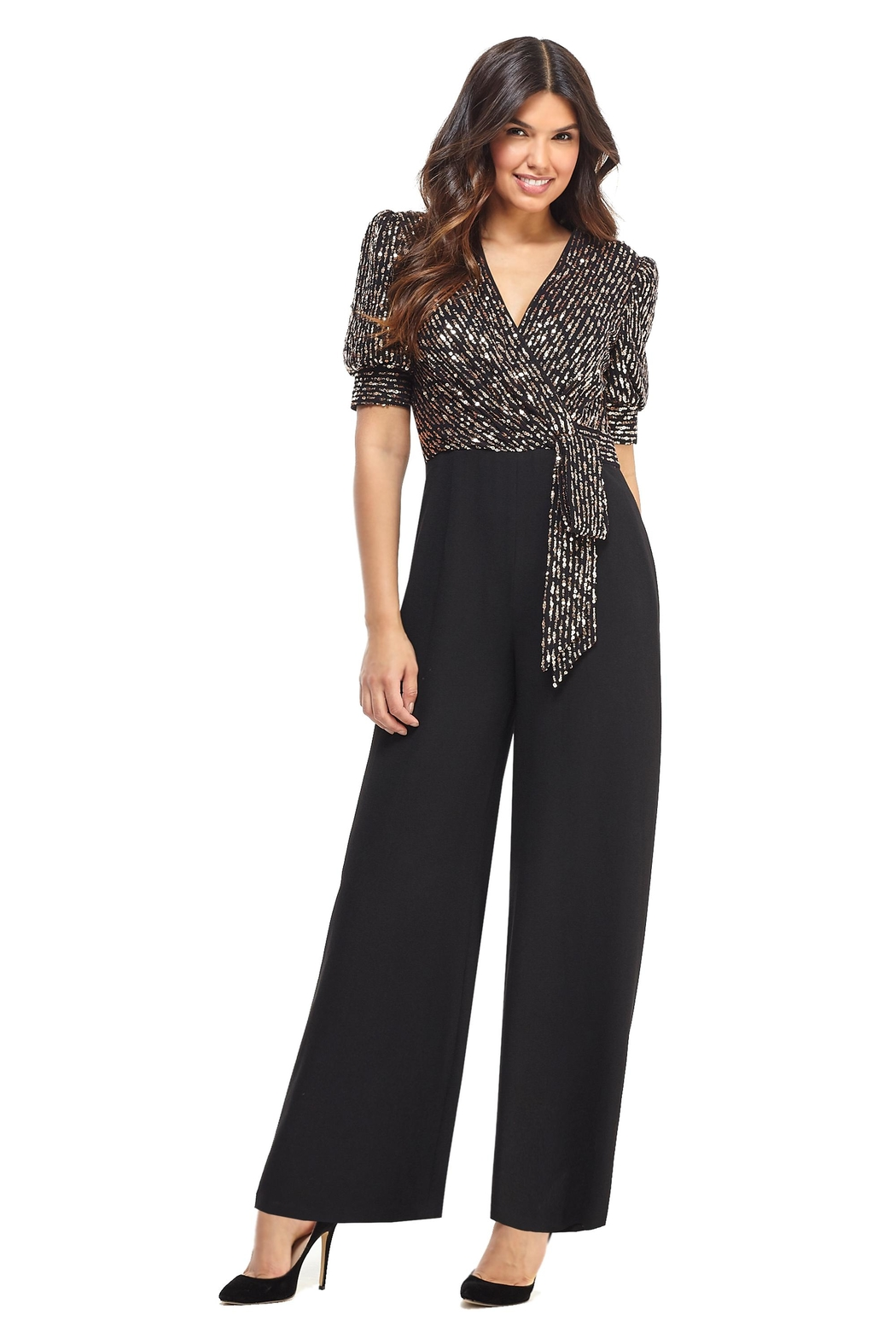 Maggy London Rose Sequin Jumpsuit - Main Image