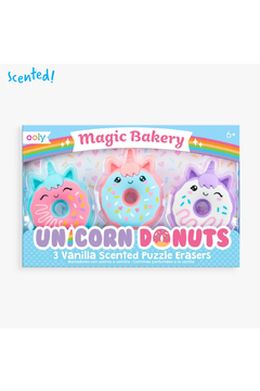 Ooly Magic Bakery Unicorn Donuts Scented Erasers - Set Of 3 - Product List Image