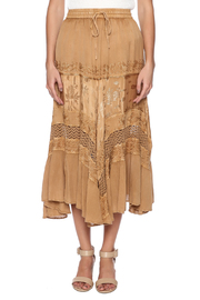 Magic Scarf Chic Linen and Lace Skirt - Side cropped
