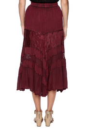 Magic Scarf Chic Linen and Lace Skirt - Back cropped