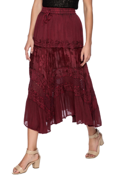 Shoptiques Product: Chic Linen and Lace Skirt
