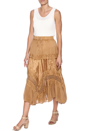 Magic Scarf Chic Linen and Lace Skirt - Front full body