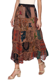 Magic Scarf Patchwork Skirt - Product Mini Image