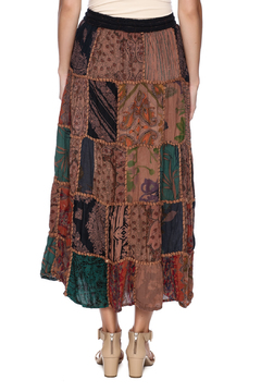 Magic Scarf Patchwork Skirt - Alternate List Image