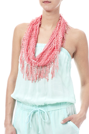 Magic Scarf Victorian Lace Infinity Scarf - Back cropped