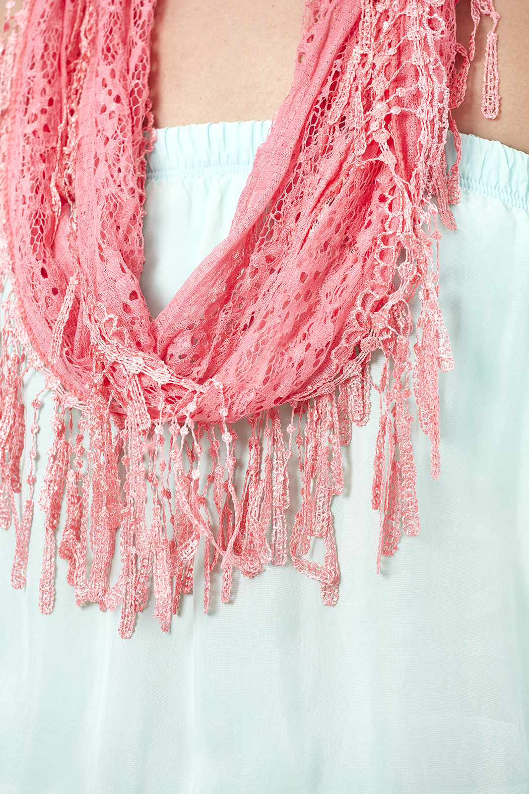 Magic Scarf Victorian Lace Infinity Scarf - Front Full Image