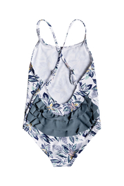 Roxy Girl Magic Seeker One Piece Swimsuit - Front full body