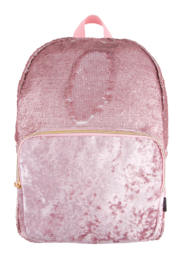 Fashion Angels Magic Sequin Backpack- Pink Glitter/ Velvet Pocket - Product Mini Image