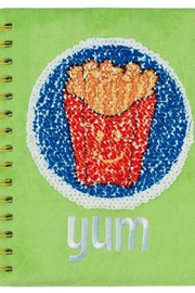 Three Cheers For Girls Magic Sequin Journal-Burger - Front full body