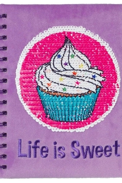 Three Cheers For Girls Magic Sequin Journal-Cupcake - Product List Image