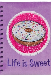 Three Cheers For Girls Magic Sequin Journal-Cupcake - Front full body