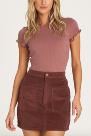 Billabong Magic Touch Corduroy Mini Skirt - Product Mini Image