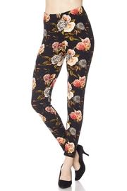 Magic Scarf Victorian Rose Leggings - Front cropped