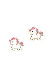 Girl Nation  Magical Unicorn Cutie Stud Earrings - Front cropped