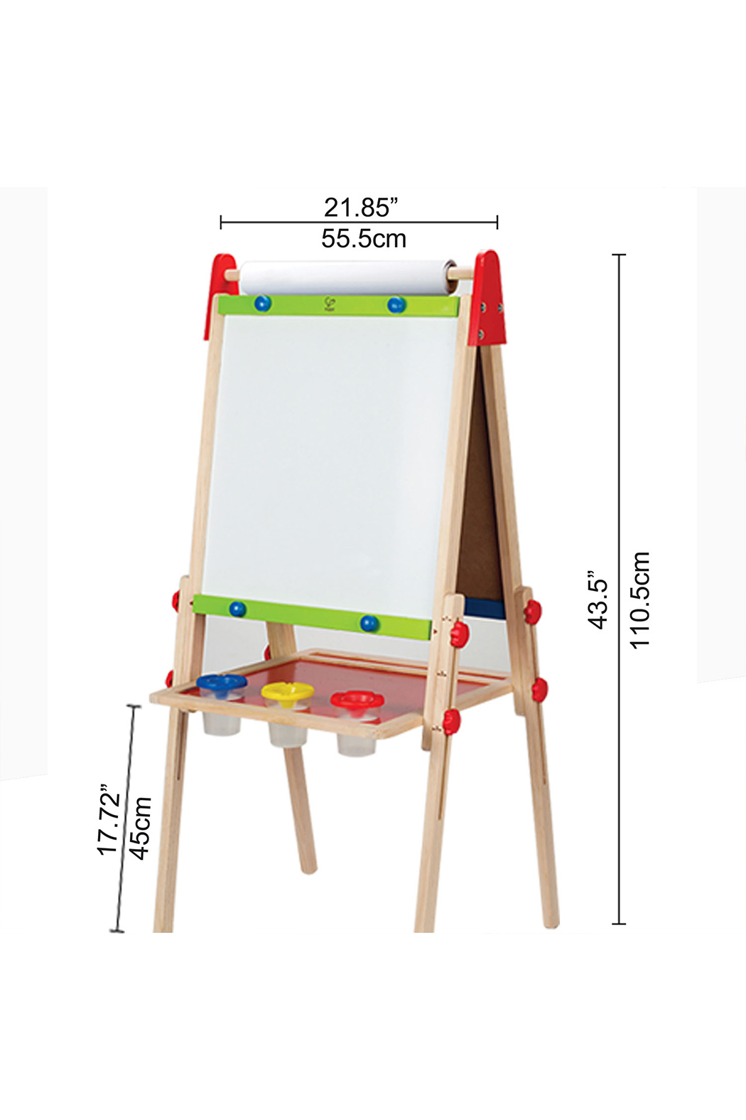 Hape Magnetic All-in-1 Easel - Back Cropped Image