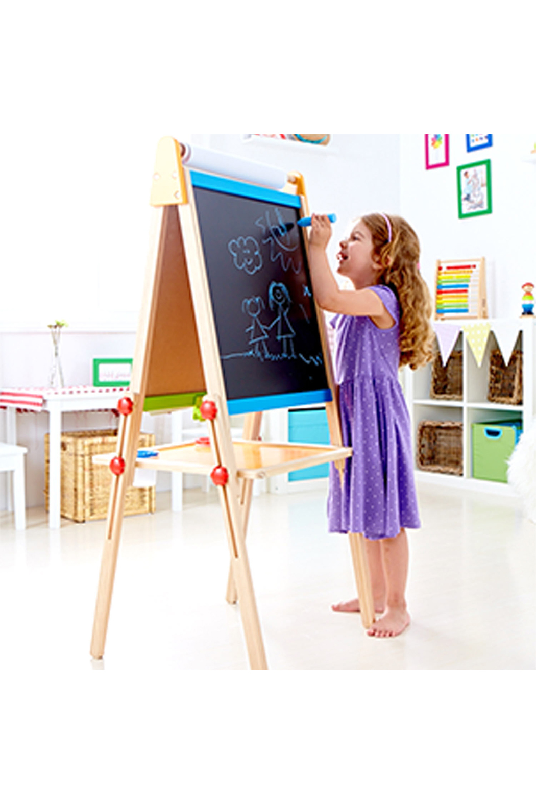 Hape Magnetic All-in-1 Easel - Front Full Image