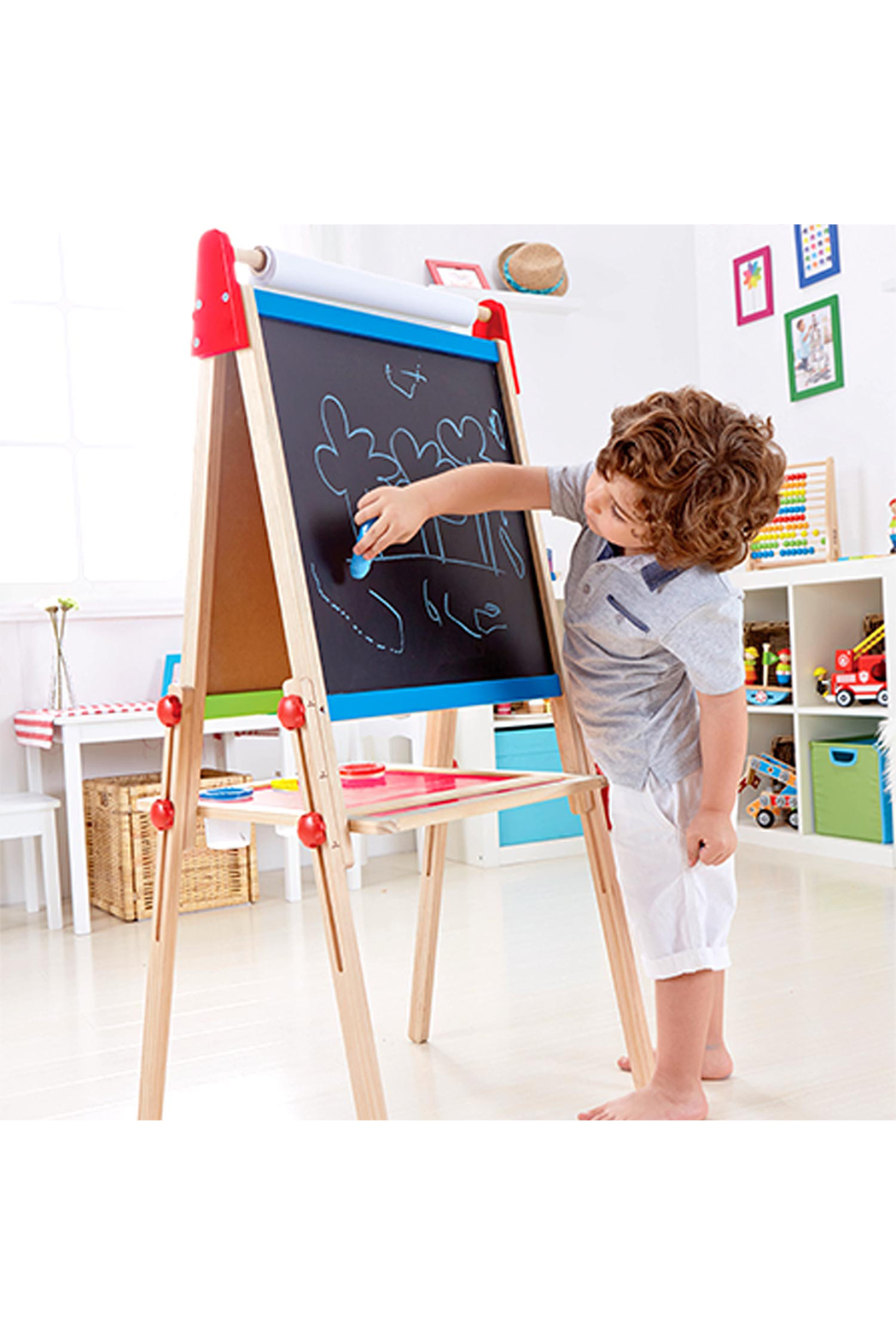 Hape Magnetic All-in-1 Easel - Side Cropped Image