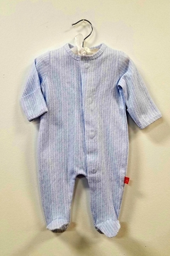 Magnificent Baby Magnetic-Me Herringbone Footie - Product List Image