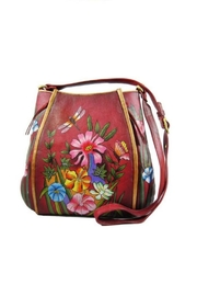 Magnifique Bags Hand-Painted Floral Crossbody - Front cropped