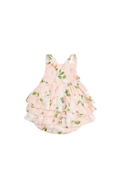 Angel Dear Magnolia Muslin Ruffle Sunsuit - Front full body