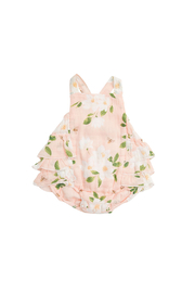 Angel Dear Magnolia Muslin Ruffle Sunsuit - Front cropped