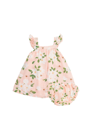 Angel Dear Magnolia Muslin Sundress & Diaper Cover - Front cropped